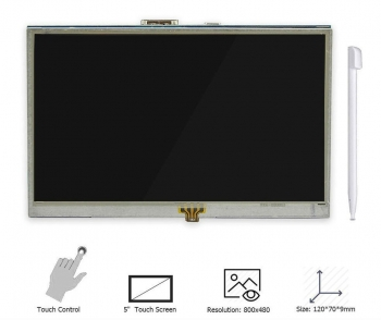 "TFT LCD дисплей 5"" сенсорный для Raspberry Pi 2/3"