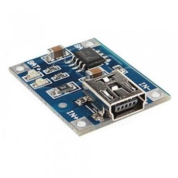 Модуль ЗУ для Li-Ion аккумуляторов (TP4056 miniUSB)