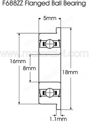 Подшипник F688ZZ (8*16*4мм)