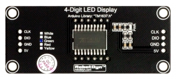 "LED индикатор 0.56"" 4х числовой I2C синий"