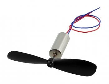 Микро-мотор 7мм*20мм с пропеллером