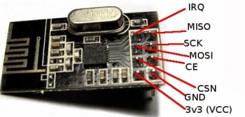 Радиомодуль NRF24L01+ с антенной
