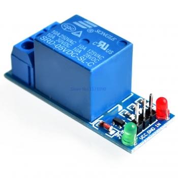 Реле модуль 1 канал 5В без опторазвязки (лог.1)