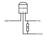 Схема подключения с резистором