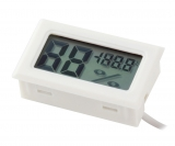 Гигрометр+термометр цифровой с ЖК экраном (белый)