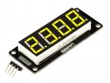"""LED индикатор 0.56"""" 4х числовой I2C желтый"""