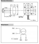 Шаговый двигатель NEMA 17