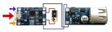 Модуль ЗУ для Li-Ion аккумуляторов с защитой (TP4056)