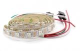 Светодиодная лента RGB WS2812B (60шт/1м, IPЗ0)
