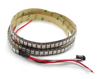 Светодиодная лента RGB WS2812B (144шт/1м, IPЗ0)