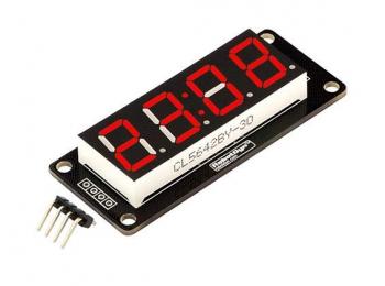 """LED индикатор 0.56"""" 4х числовой TM1637 красный"""