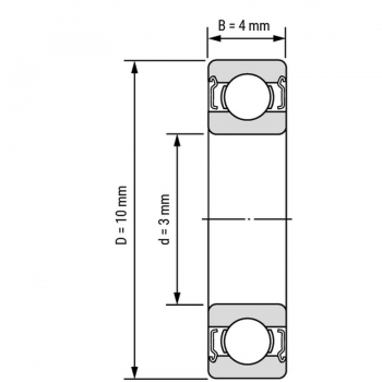 Подшипник 623ZZ (3*10*4мм)