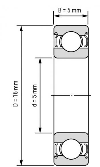 Подшипник 625ZZ (5*16*5мм)