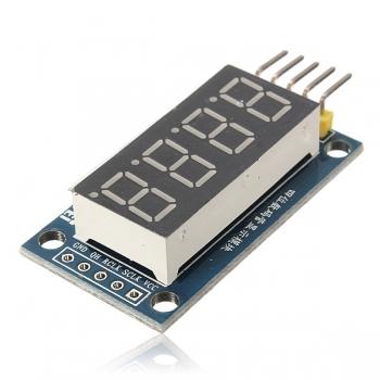 LED индикатор 4х числовой 74НС595