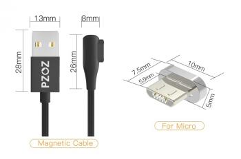 USB дата-кабель Micro угловой (магнитный)