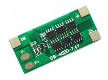 Контроллер заряда/разряда Li-Ion BMS-2S (12А)