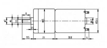 Мотор с редуктором JGA25-370