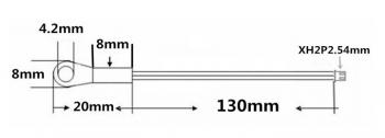 Термистор NTC3950 с кабелем (под винт)