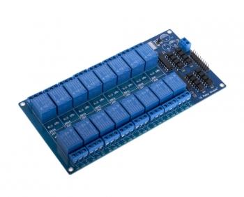Реле модуль 16 каналов 5В с опторазвязкой