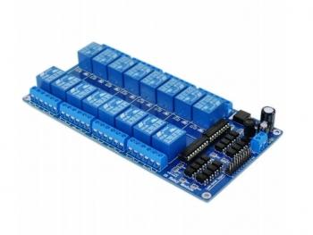 Реле модуль 16 каналов 12В с опторазвязкой