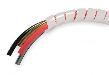 Бандаж кабельный SWB-08 спиральный белый