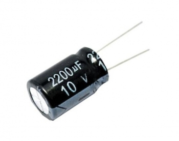Конденсатор электролит. 2200мкФ 10В