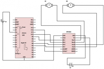 Драйвер двигателей DRV8833