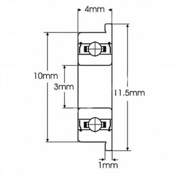 Подшипник F623ZZ (3*10*4мм)