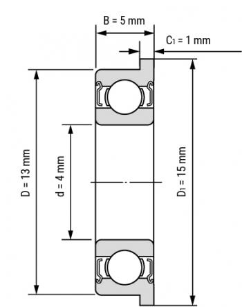 Подшипник F624ZZ (4*13*5мм)