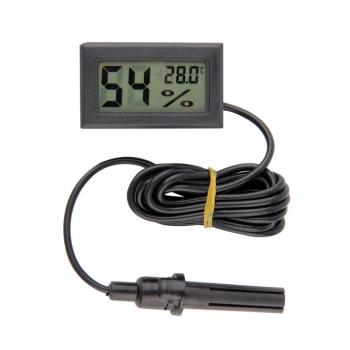 Гигрометр+термометр цифровой с ЖК экраном (черный)