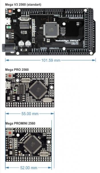 Arduino MEGA 2560 для встраивания (ch340)