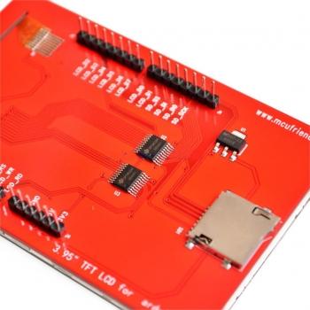"""TFT шилд 3.95"""" c сенсорным экраном и MicroSD"""