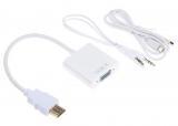 Адаптер HDMI-VGA (+аудио +доп.питание)