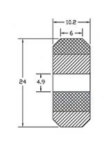 Колесо с подшипником 625zz для алюм. профиля
