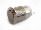 Кнопка без фиксации металлическая 12мм