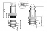Разъем GX16-4 (габариты)
