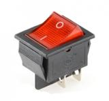 Выключатель KCD4 on-off красный