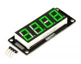 """LED индикатор 0.56"""" 4х числовой I2C зеленый"""