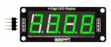 """LED индикатор 0.56"""" 4х числовой TM1637 зеленый"""
