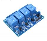 Реле модуль 4 канала 5В с опторазвязкой