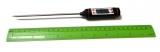 Термометр цифровой с металлическим щупом (черный)
