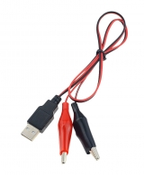 Кабель USB-штекер - 2 крокодила
