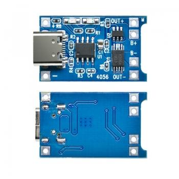 Модуль ЗУ для Li-Ion с защитой (TP4056,Type-C)