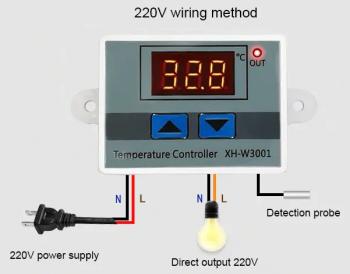 Схема подключения 220В