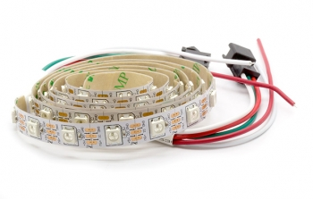 Светодиодная лента RGB WS2812B (60шт/1м, бел.)