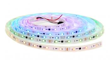 Светодиодная лента RGB WS2812B (30шт/1м, IPЗ0)